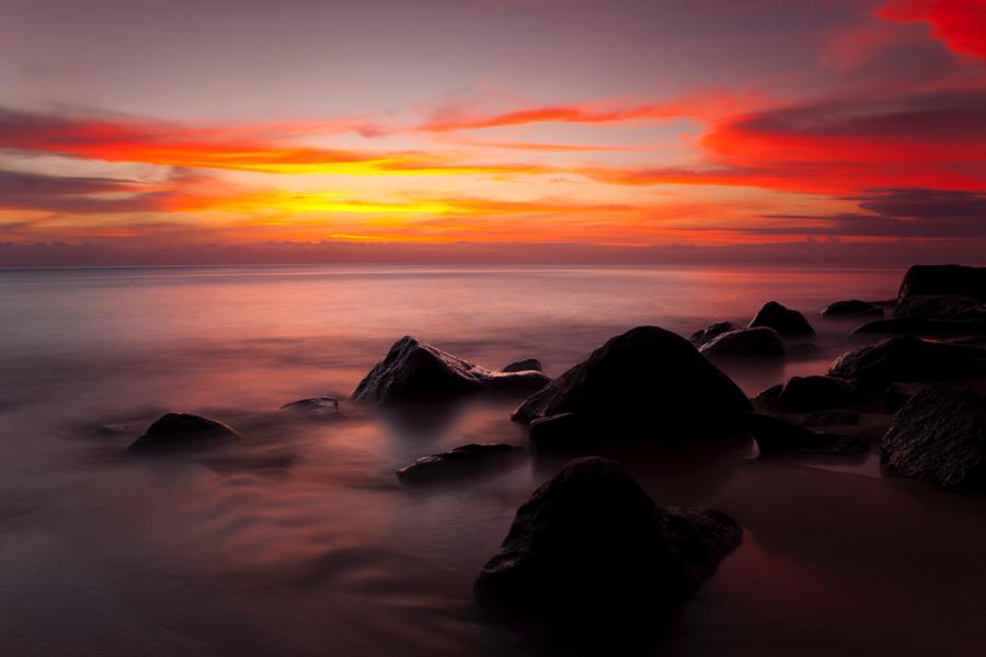 sunset&stones