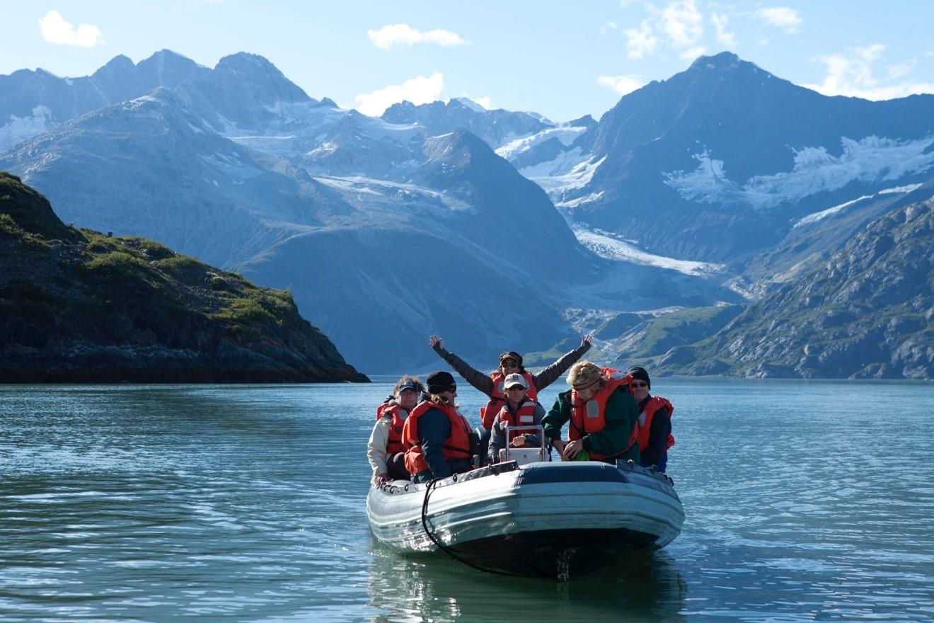 Zodiack in Glacier Bay