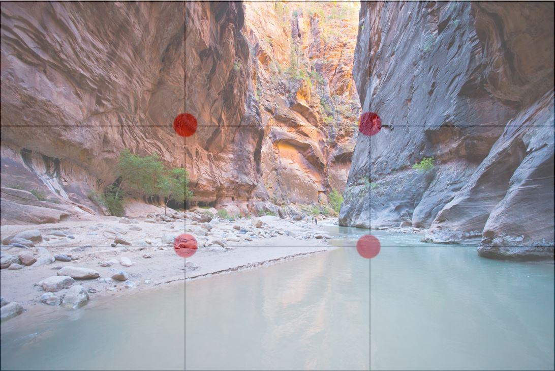 Zion Narrows Grid