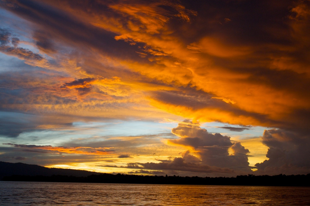 Sunset in the solomon islands