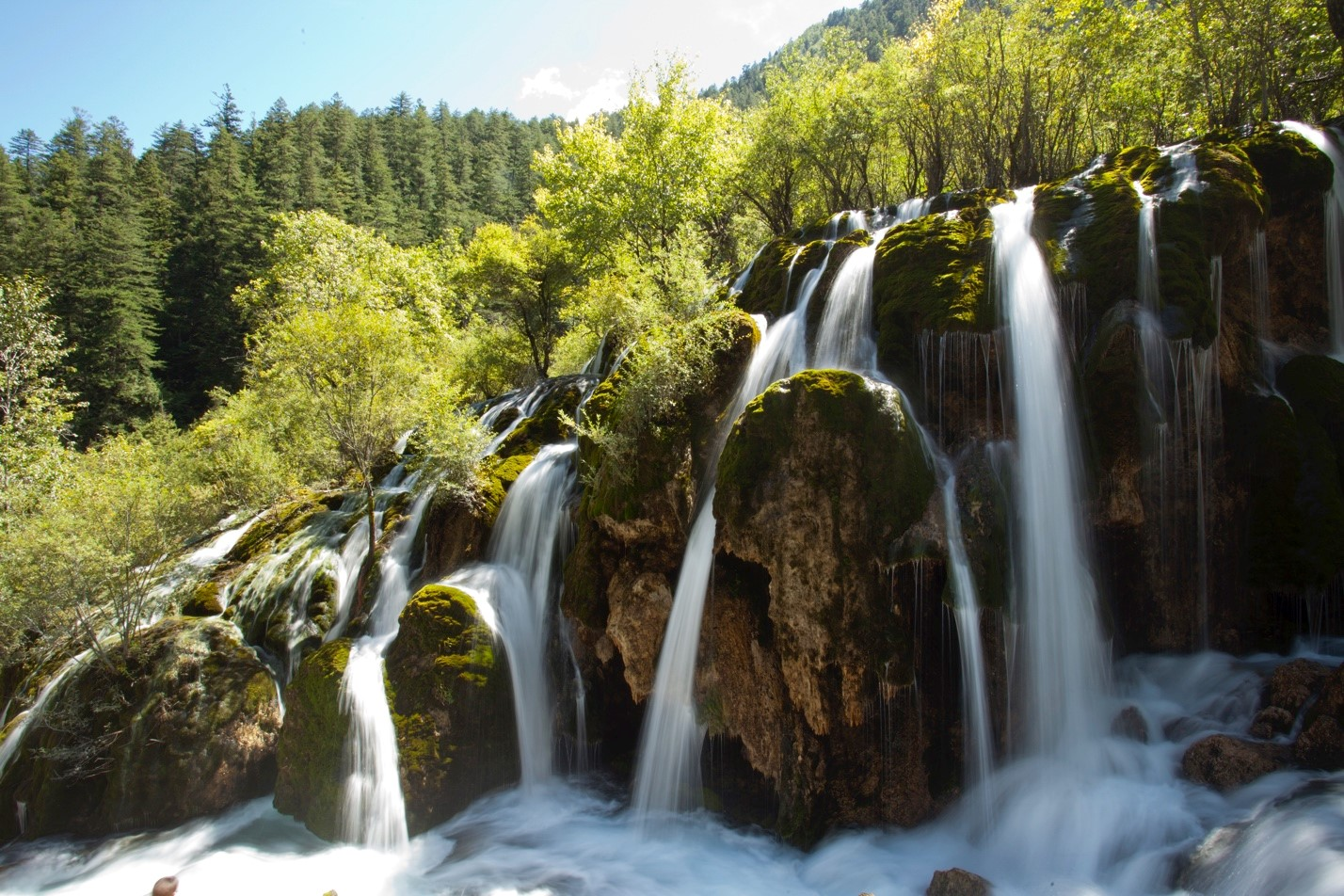 jiuzhaigou waterfall