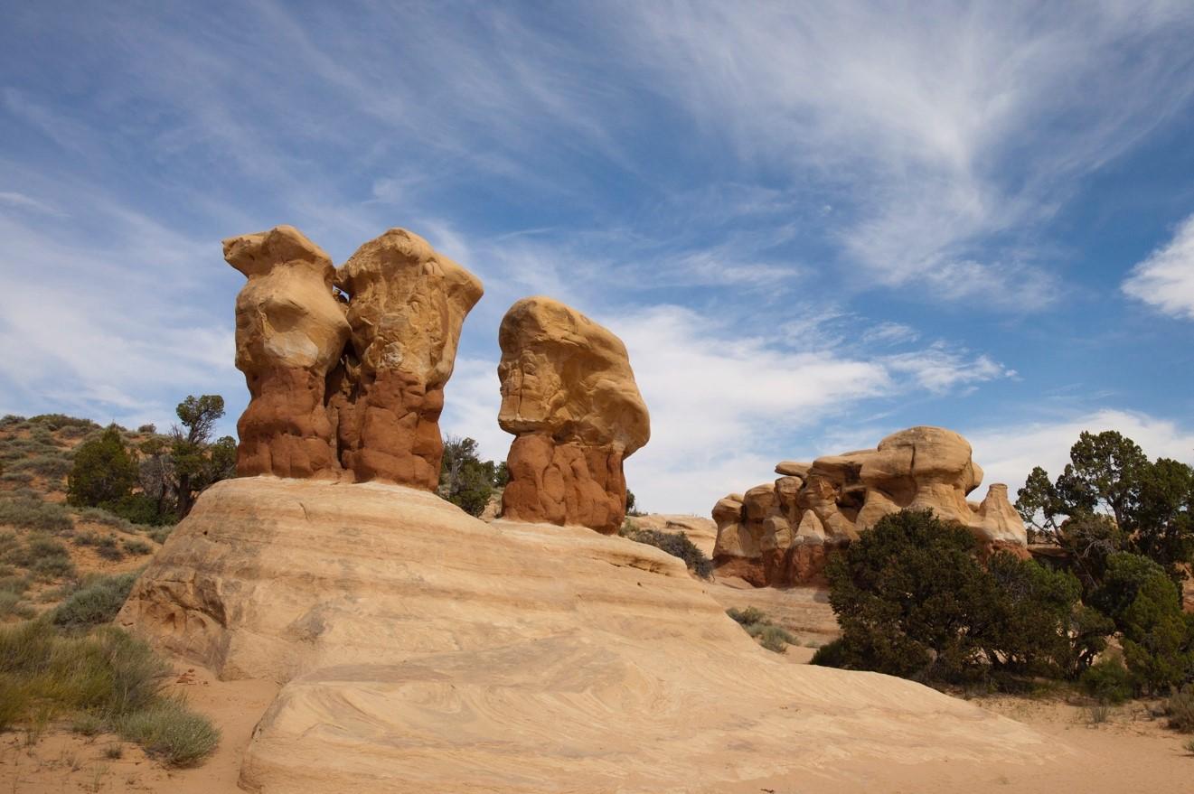 unique stone pilars of Escalante National Monument