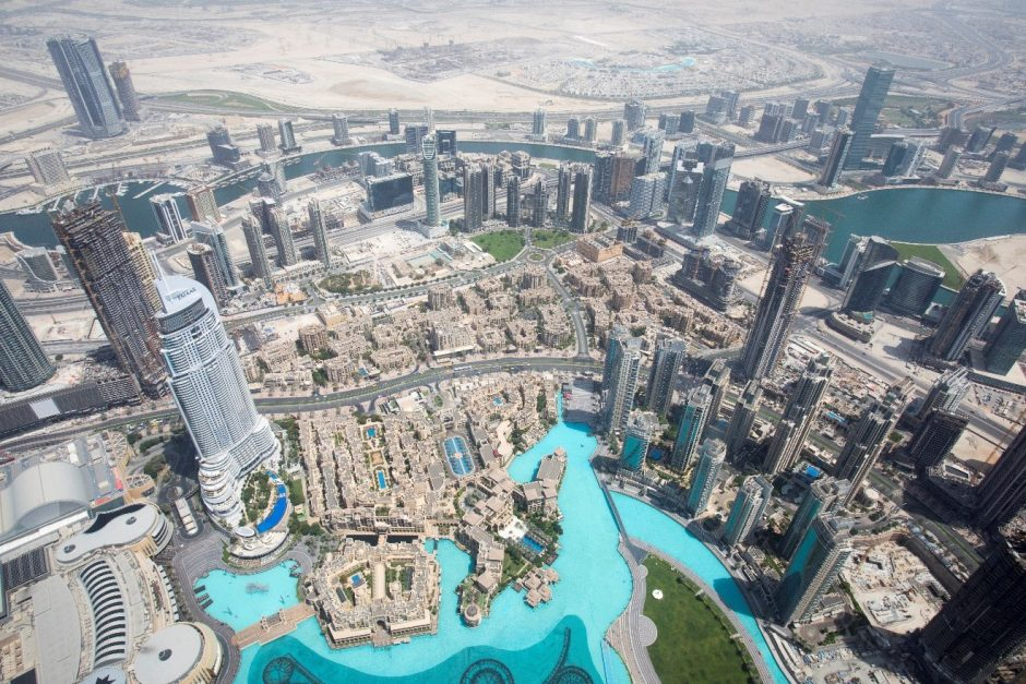 a view from the top of Burj Khalifa in Dubai