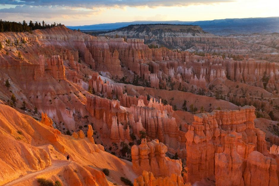 a colorful image of the hoodoos and rocks of bryce canyon national park