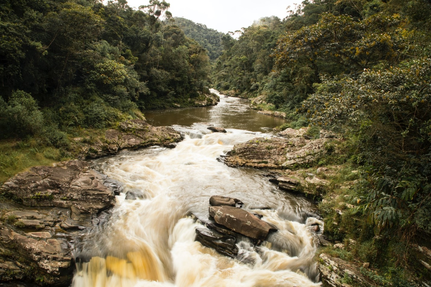 a rushing river in madagascar